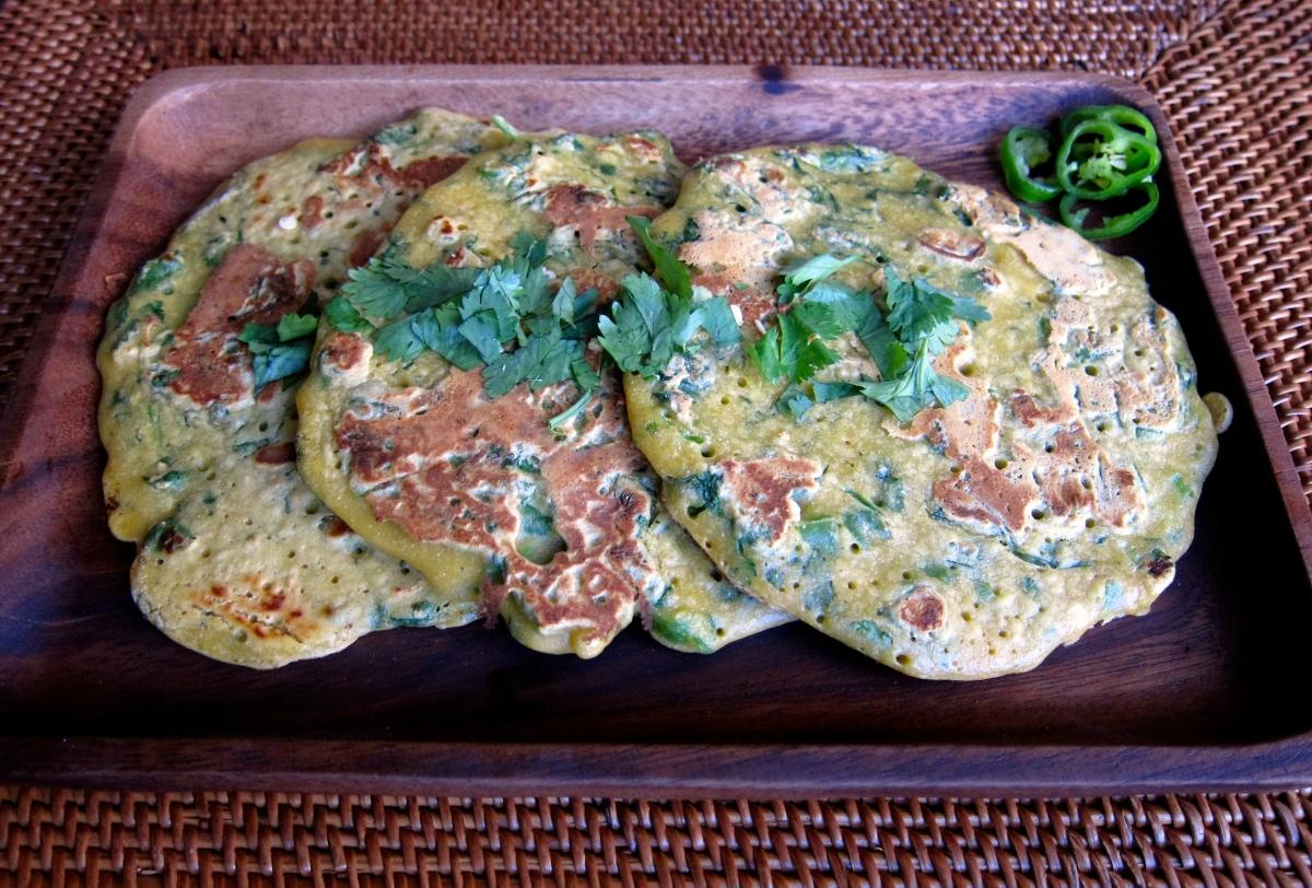 Pudla, Savoury Chickpea Pancakes