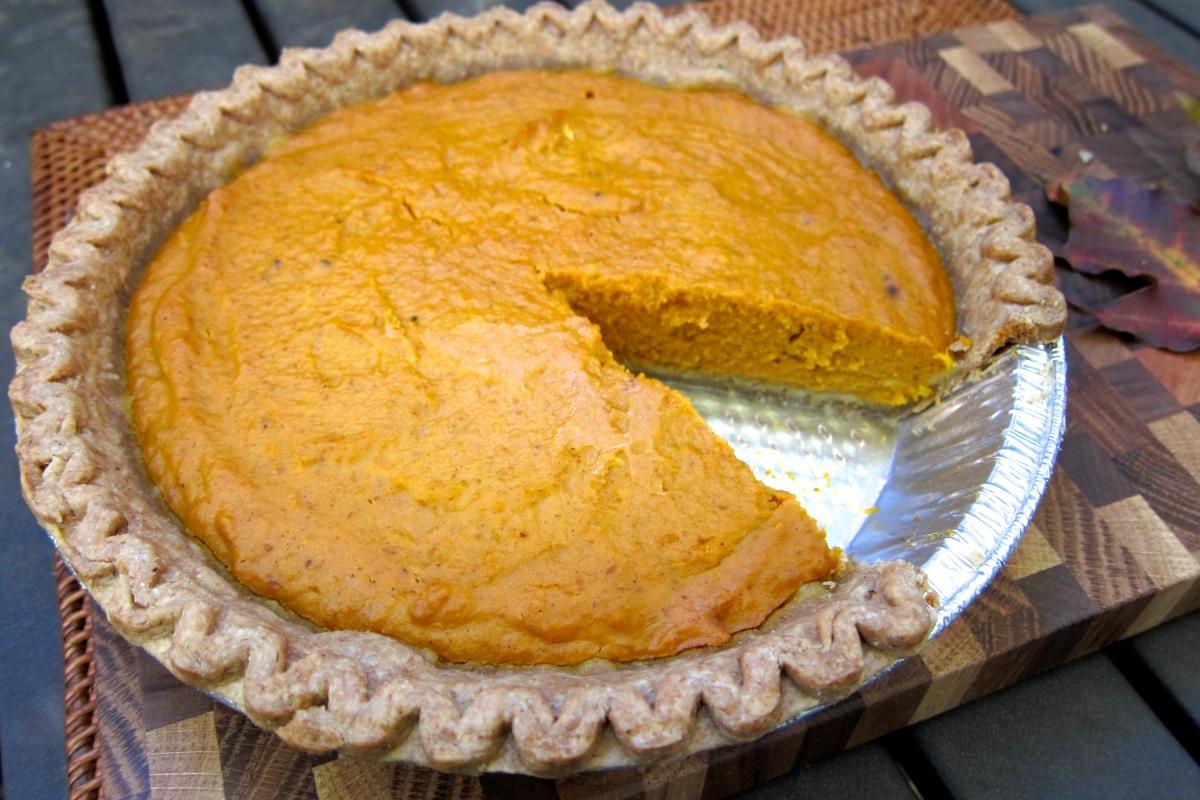 Thanksgiving Pumpkin Pie (dairy-free)